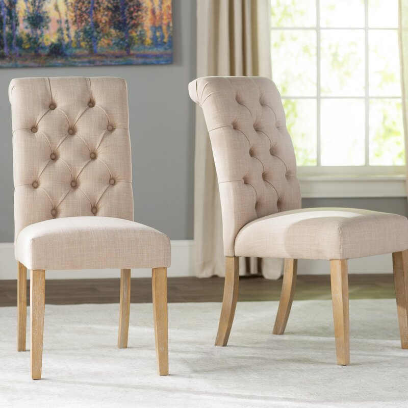 Exceptionnel Pompon Tufted Side Chair