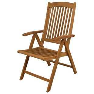 Avalon Folding Teak Patio Dining Chair by SeaTeak
