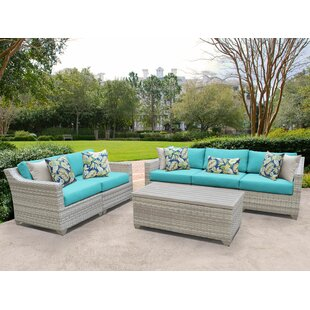 Fairmont 6 Piece Sofa Seating Group with Cushions