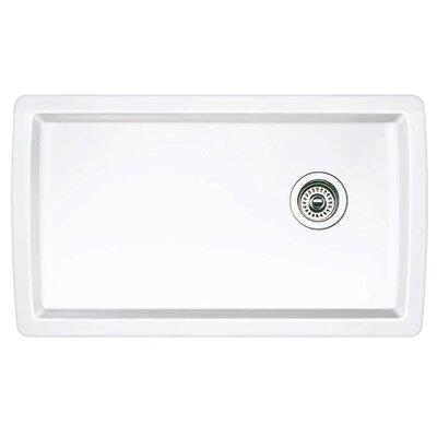 Blanco Diamond 33.5 L x 18.5 W Undermount Kitchen Sink Color: White