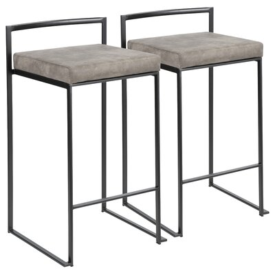 Groovy Wade Logan Gary Bar Counter Stool Color Black Seat Height Theyellowbook Wood Chair Design Ideas Theyellowbookinfo