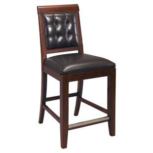 Sammi 25 Upholstered Leather Bar Stool (Set of 2) Latitude Run