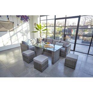 Cieran 9 Seater Rattan Corner Sofa Set By Sol 72 Outdoor