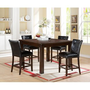 Lowder 5 Piece Pub Table Set by Red Barrel Studio Reviews