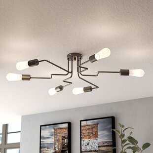 Williston Forge Awilda Modern 6-Light Chandelier