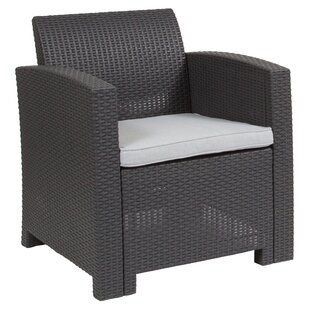 Stockwell Patio Chair With Cushion by Breakwater Bay Best