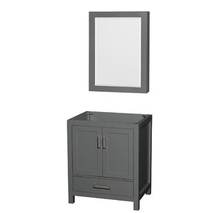 Sheffield 30 Single Bathroom Vanity Base with Medicine Cabinet by Wyndham Collection