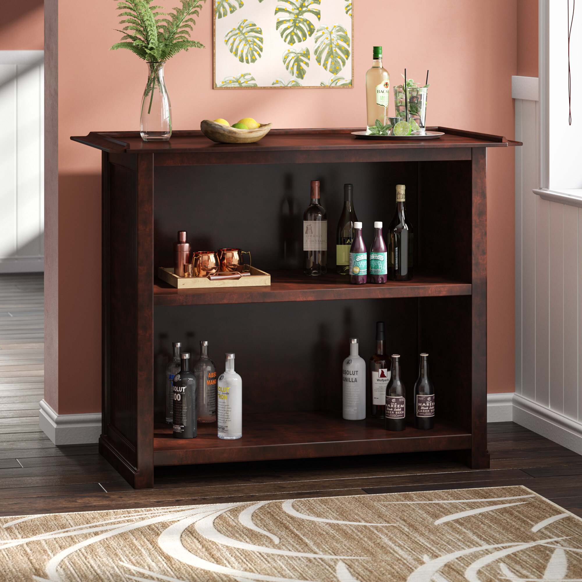 Red Bar Wine Cabinets You Ll Love In 2021 Wayfair