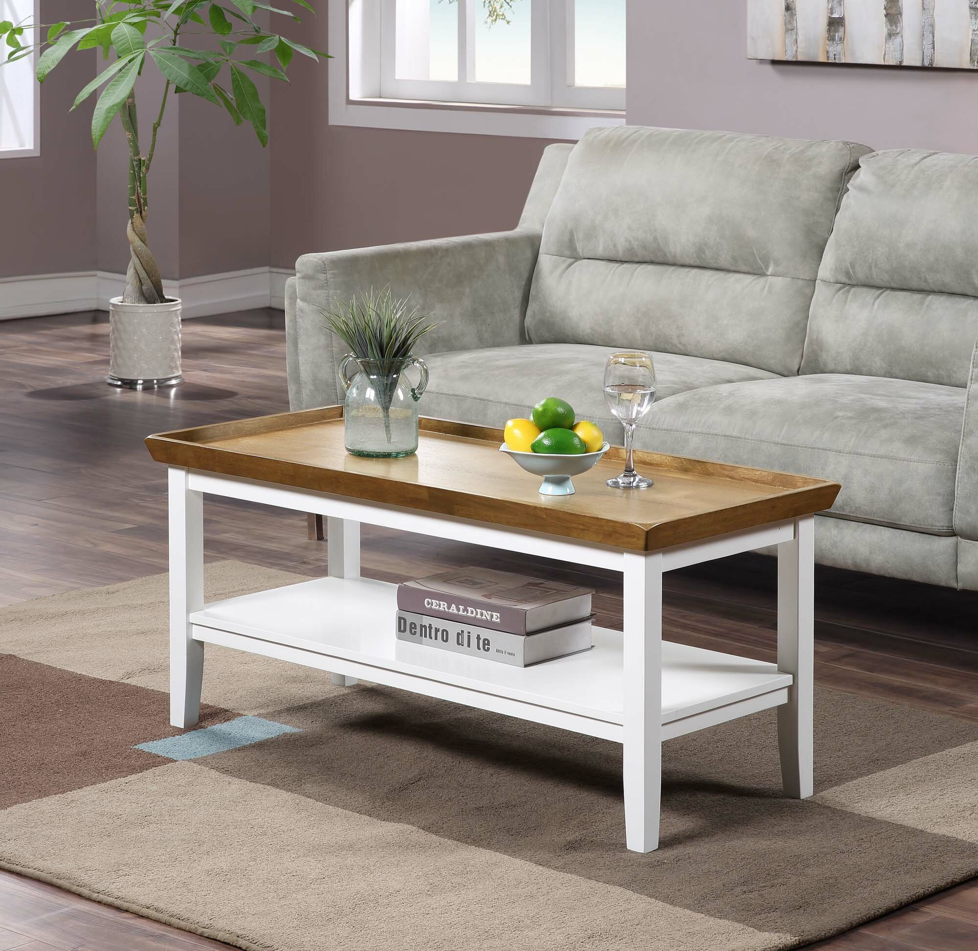 Andover Mills Gwen Solid Wood Coffee Table With Storage Reviews Wayfair