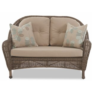 August Grove Brody Patio Loveseat with Cushion
