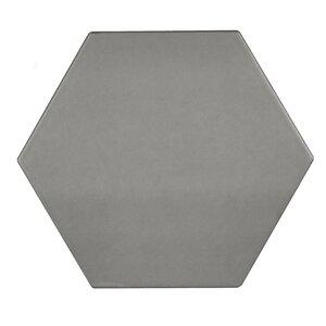 Hexagon 17.5cm x 20.2cm Porcelain Tile in Grey