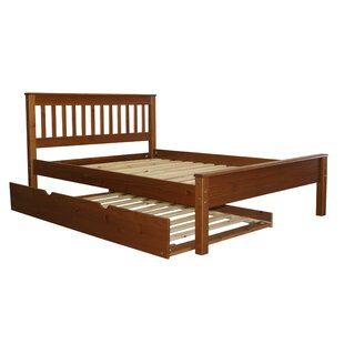 Treva Full Slat Bed with Trundle