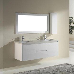 Barros 63 Double Bathroom Vanity Set with Mirror by Bauhaus Bath