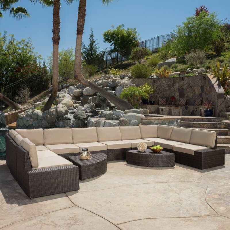 Donahoe 12 Piece Sectional Set with Cushions