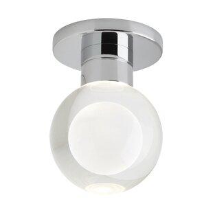 Orren Ellis Crum 1-Light LED Semi Flush Mount