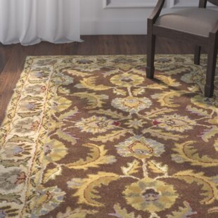 Balthrop Hand-Tufted Wool Brown/Tan Area Rug ByAstoria Grand