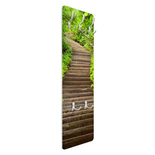 Stairway In The Forest Wall Mounted Coat Rack By Symple Stuff