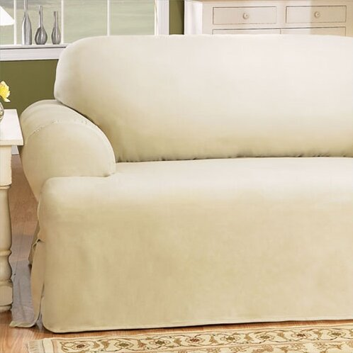 Fantastic Cotton Duck T Cushion Loveseat Slipcover Ibusinesslaw Wood Chair Design Ideas Ibusinesslaworg
