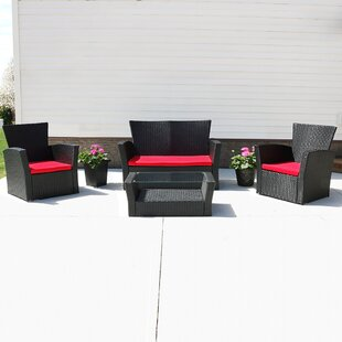 Freeport Park Anissa 4 Piece Sofa Set with Cushions