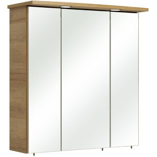 Archibald Bacoli II 75 X 72cm Mirrored Wall Mounted Cabinet By Quickset