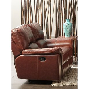 Albertus Leather Reclining Loveseat by Loon Peak