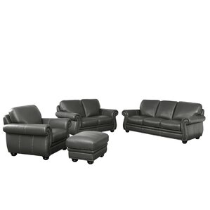 Fairdale 4 Piece Leather Living Room Set by Darby Home Co