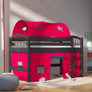 Abigail Twin Loft Bed With Tent by Zoomie Kids Modern