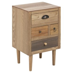 Cantle 4 Drawers Bedside Table By Hashtag Home