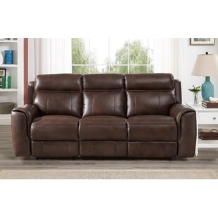Best Reviews Gurley Leather Reclining Sofa by Red Barrel Studio Reviews (2019) & Buyer's Guide