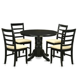 Langwater Traditional 5 Piece Wood Dining..