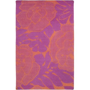 Abigail Hot Pink/Coral Area Rug