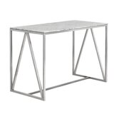 Rouncey Stainless Steel Marble Counter Pub Table by Orren Ellis