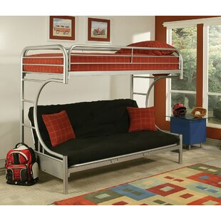 Hiett Twin Over Full Futon Bunk Bed by Zoomie Kids Sale