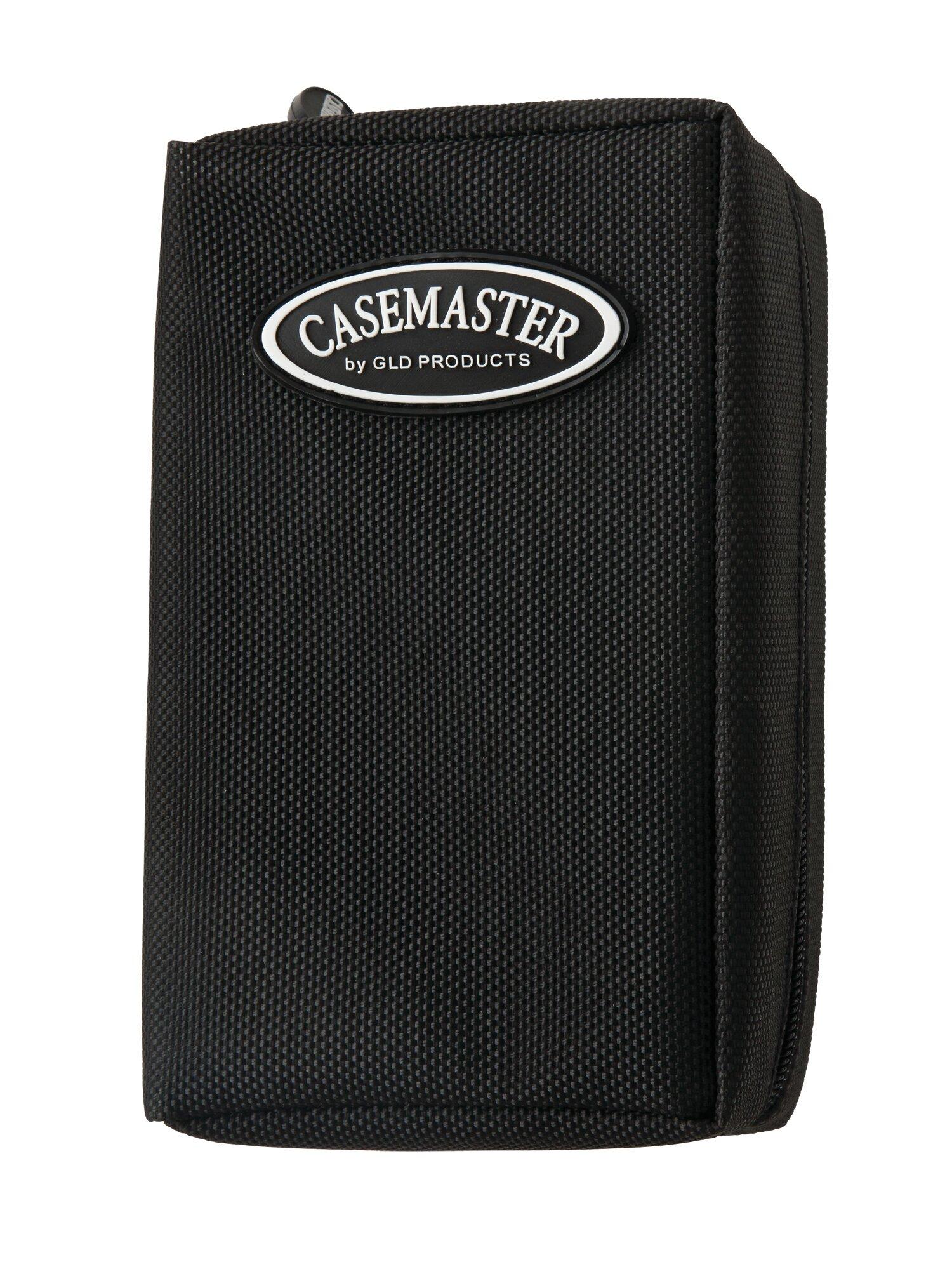 Casemaster Accolade Aluminum Hard Silver Black Dart Case 4 darts flights shafts