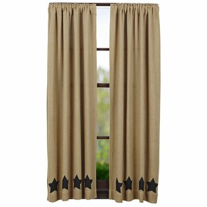 burlap curtain panels set of 2 - Vhc Brands
