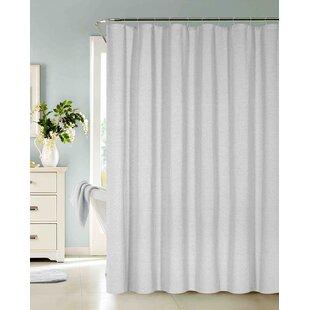 white linen shower curtain. Save to Idea Board Cotton Blend Shower Curtains You ll Love  Wayfair