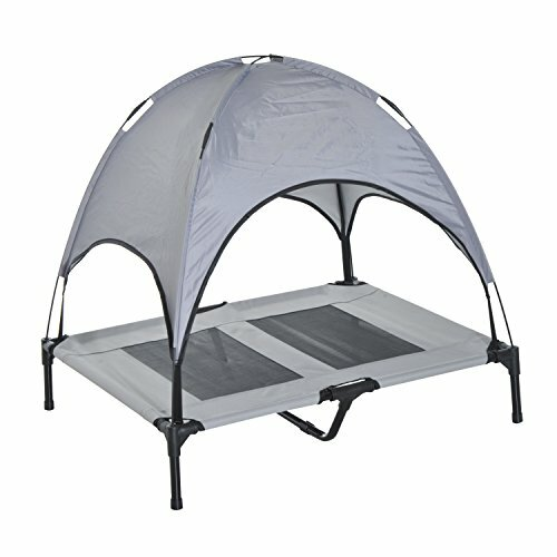 Cot Elevated Cooling Dog Bed with Canopy Shade  sc 1 st  Wayfair & Pawhut Cot Elevated Cooling Dog Bed with Canopy Shade u0026 Reviews ...