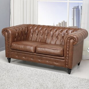 Arline Button Tufted Chesterfield Loveseat by Laurel Foundry Modern Farmhouse