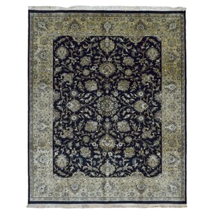 Price comparison One-of-a-Kind Slagen Traditional Hand Woven Wool Navy/Black Area Rug By Isabelline