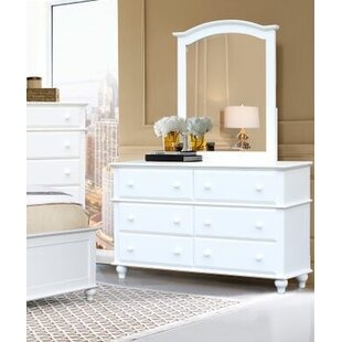 Eoin 6 Drawer Double Dresser With Mirror by Alcott Hill Today Sale Only
