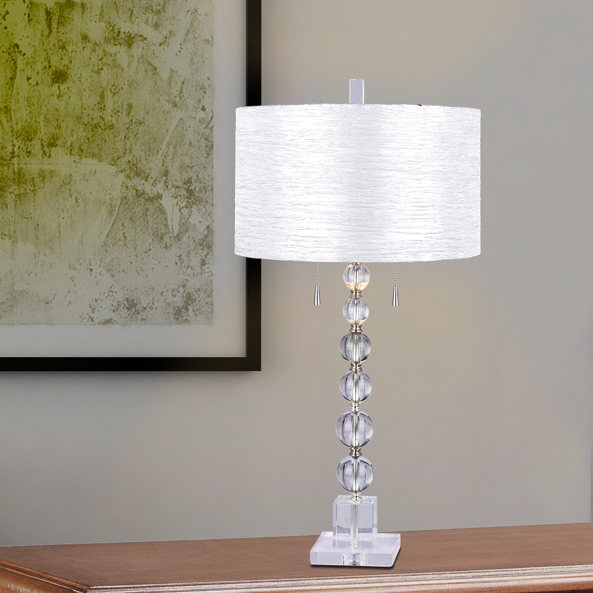 House of hampton harpswell clear stacked crystal ball 34 table house of hampton harpswell clear stacked crystal ball 34 table lamp reviews wayfair mozeypictures Choice Image