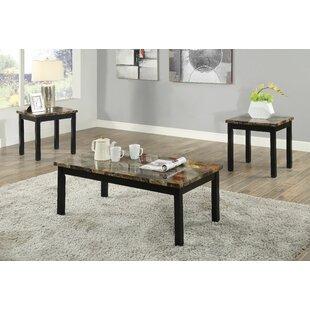 Mangume 3 Piece Coffee Table Set by Fleur De Lis Living