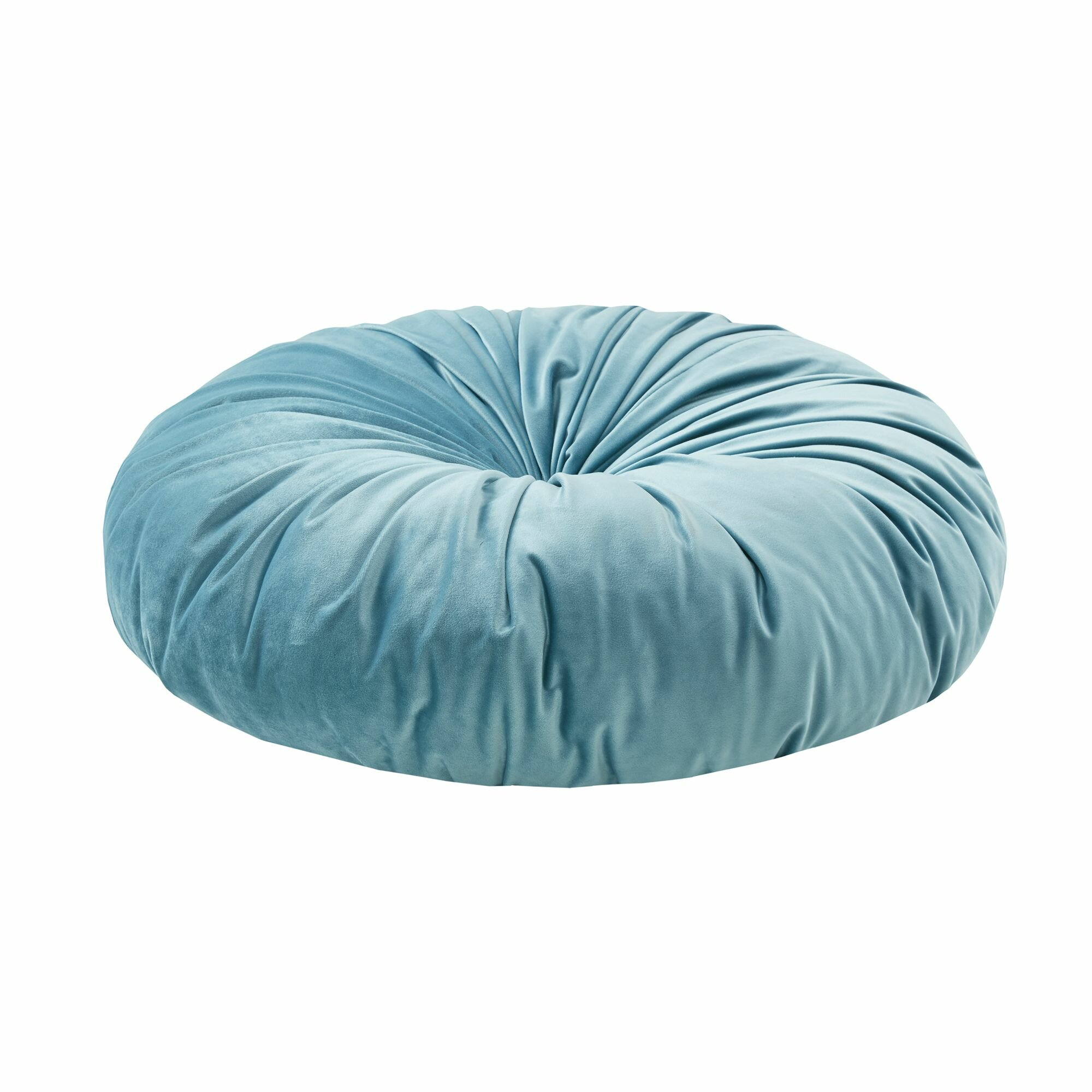 Clem Round Velvet Floor Pillow