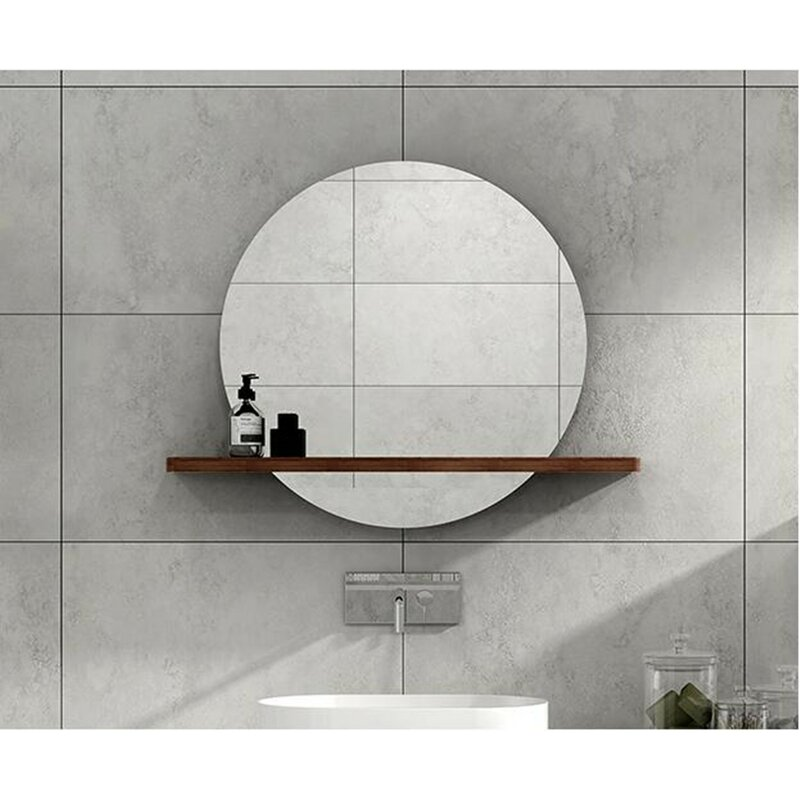 Lighted Bathroom Mirror With Shelves