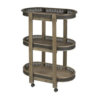 Audriana 3 Tier Wood Bar Cart by Astoria Grand