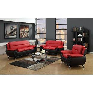 Coelho 3 Piece Living Room Set by Orren Ellis
