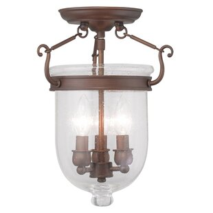 Lauder 3-Ligh Semi Flush Mount by Darby Home Co