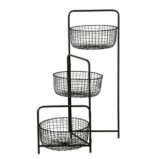 Modifica Iron 3 Piece Basket Set By Symple Stuff