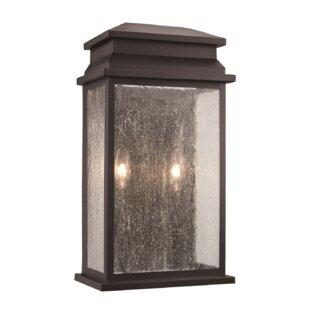 Gracie Oaks George 2-Light Outdoor Flush Mount