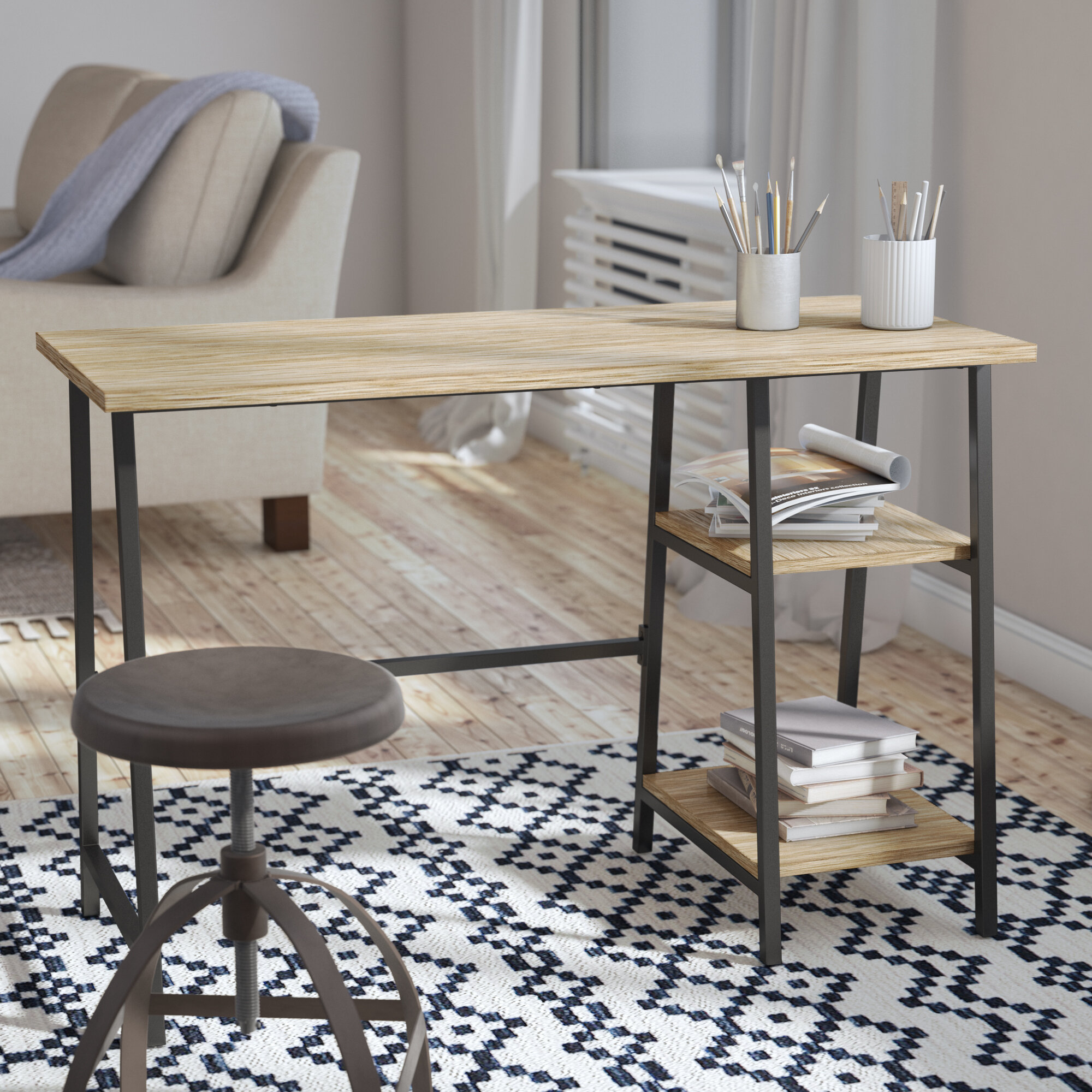 Image of: Modern Farmhouse Desks You Ll Love In 2020 Wayfair